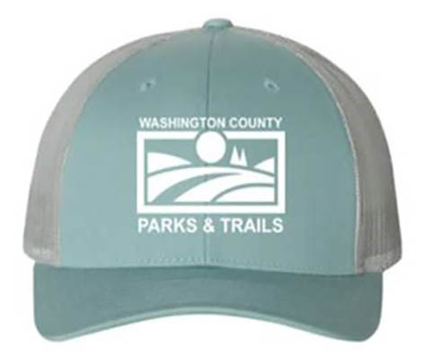 PARKS & TRAILS CAP - SMOKE BLUE/ALUMINUM/WHITE LOGO