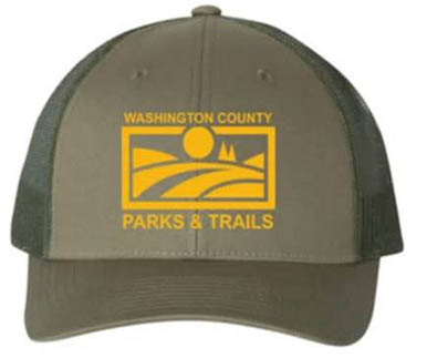 PARKS & TRAILS CAP - LODEN BROWN/GOLDEN ROD LOGO