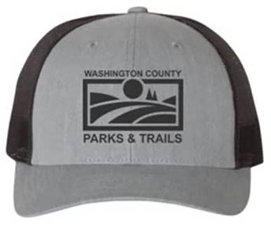 PARKS & TRAILS CAP - HEATHER GREY/DARK CHARCOAL/BLACK LOGO